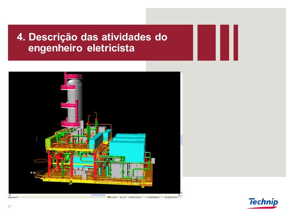 4. Descrição das atividades do engenheiro eletricista