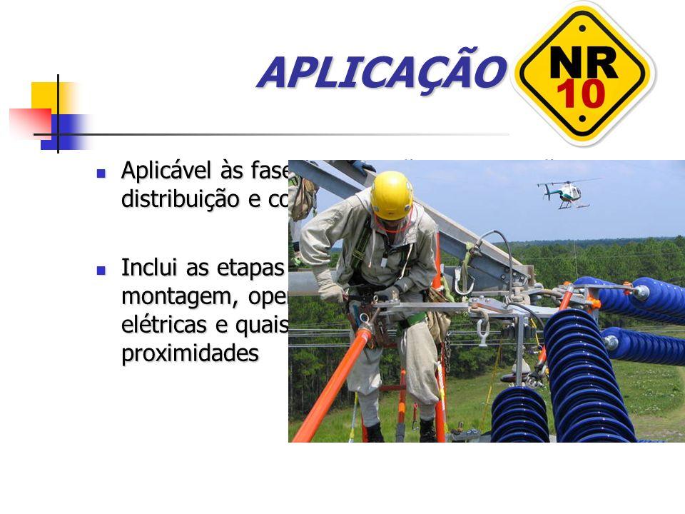 APLICAÇÃO Aplicável às fases de geração, transmissão, distribuição e consumo.