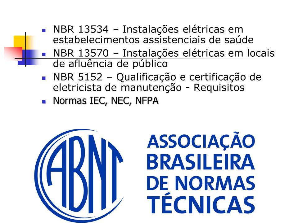 NBR 13534 – Instalações elétricas em estabelecimentos assistenciais de saúde