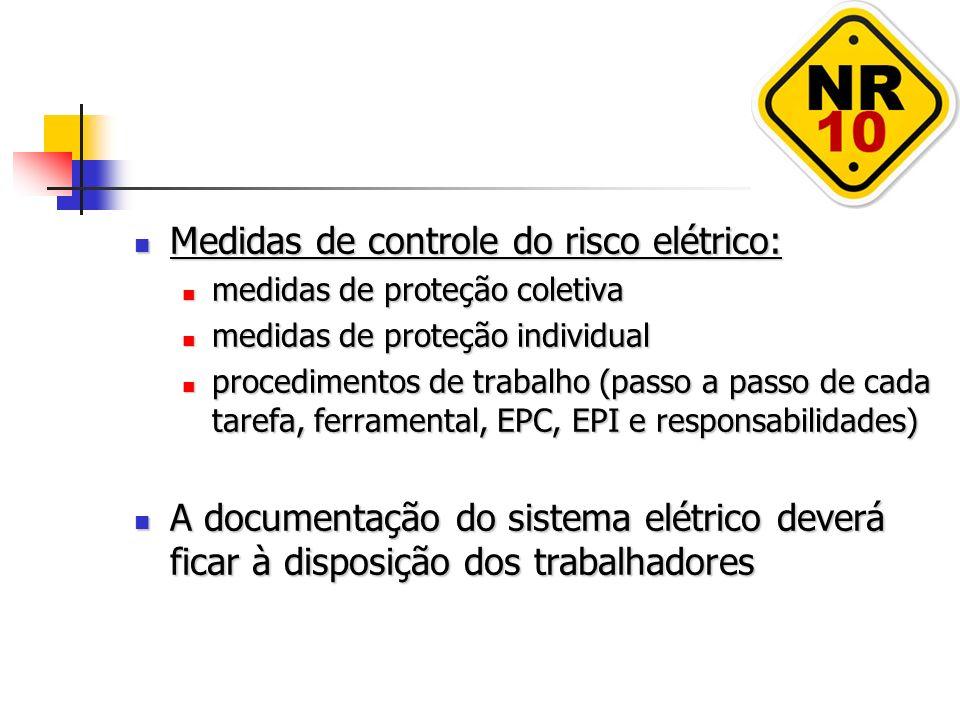 Medidas de controle do risco elétrico: