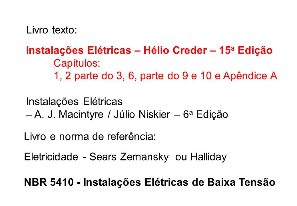 Instalações Elétricas – A. J. Macintyre / Júlio Niskier – 6a Edição