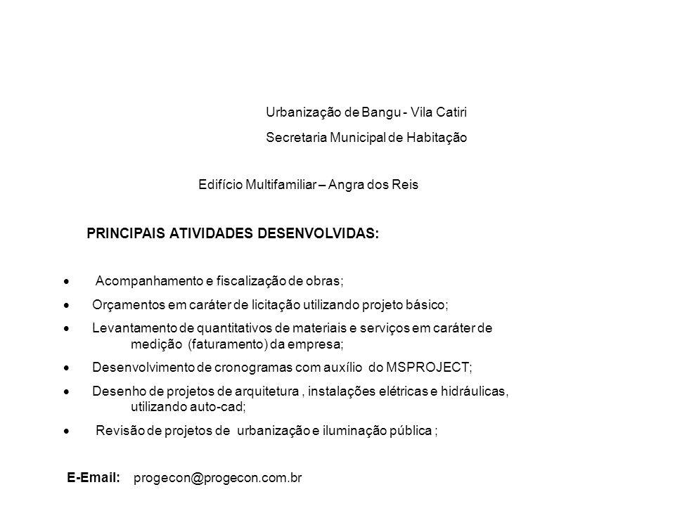 Urbanização de Bangu - Vila Catiri