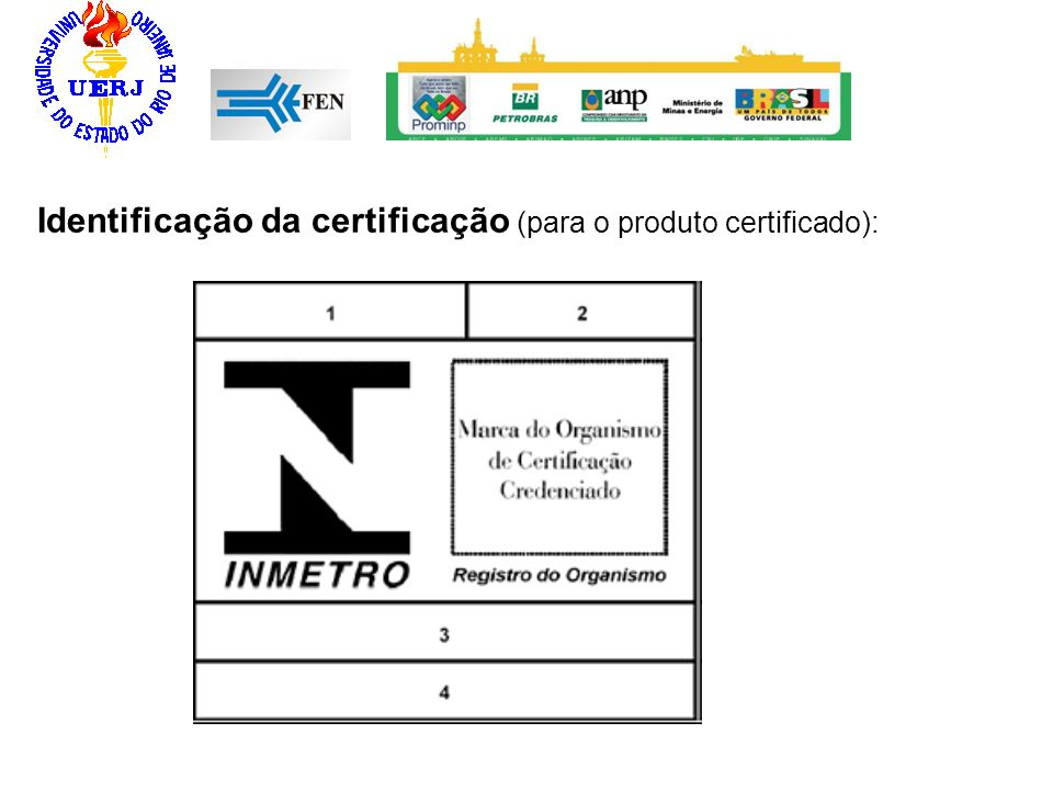 Identificação da certificação (para o produto certificado):