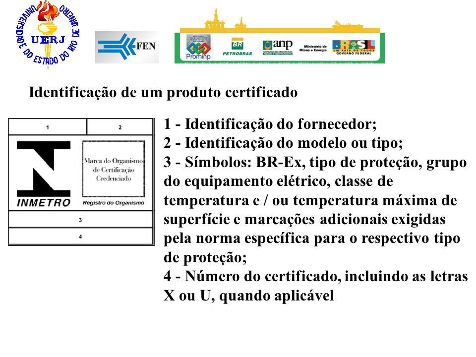 Identificação de um produto certificado