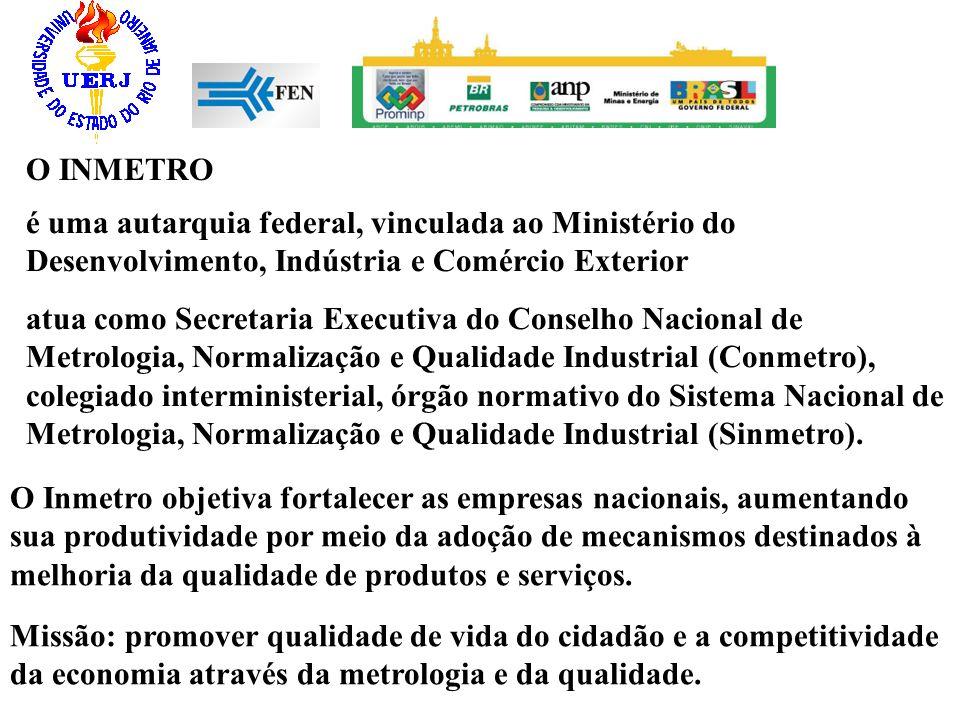 O INMETRO é uma autarquia federal, vinculada ao Ministério do Desenvolvimento, Indústria e Comércio Exterior.