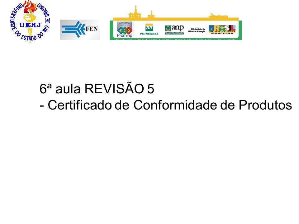 6ª aula REVISÃO 5 - Certificado de Conformidade de Produtos