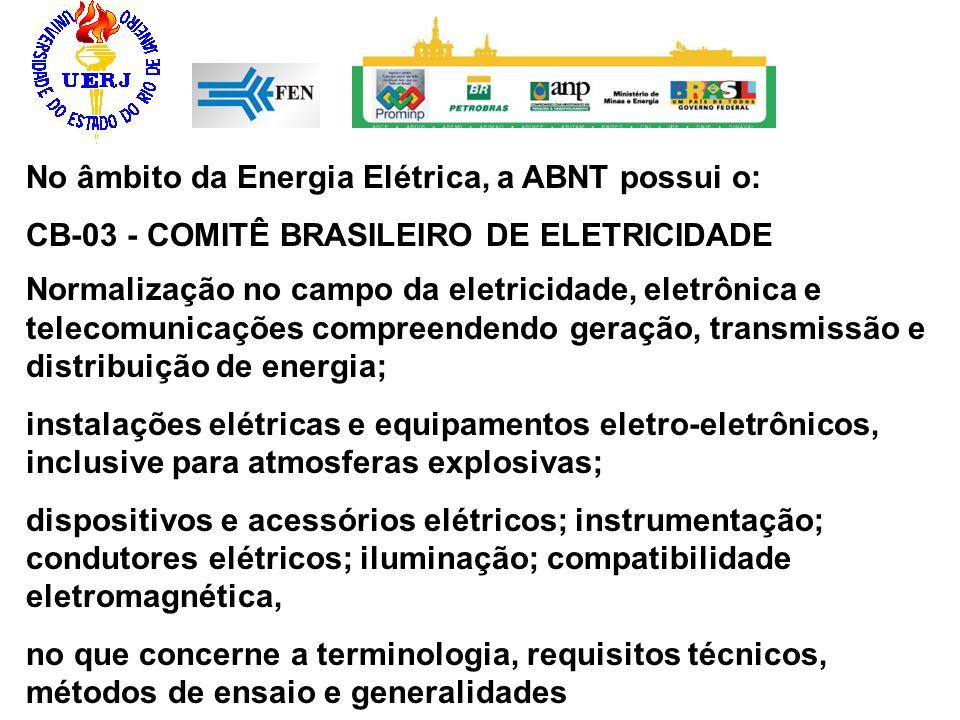 No âmbito da Energia Elétrica, a ABNT possui o: