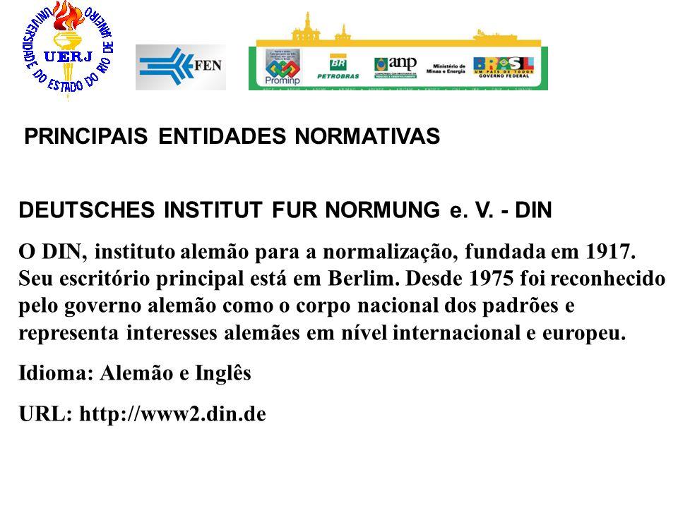 PRINCIPAIS ENTIDADES NORMATIVAS