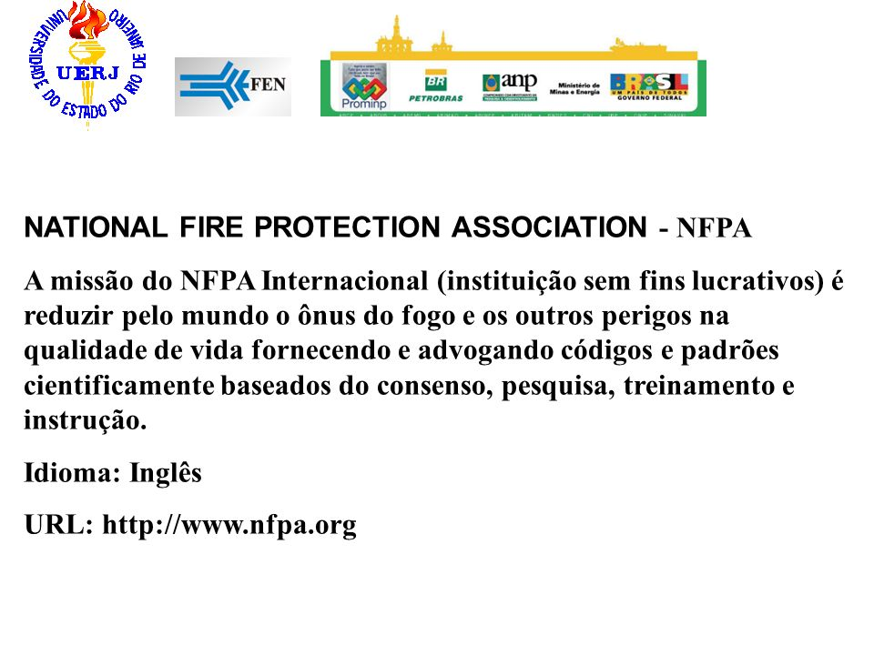 NATIONAL FIRE PROTECTION ASSOCIATION - NFPA