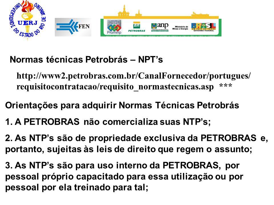 Normas técnicas Petrobrás – NPT's