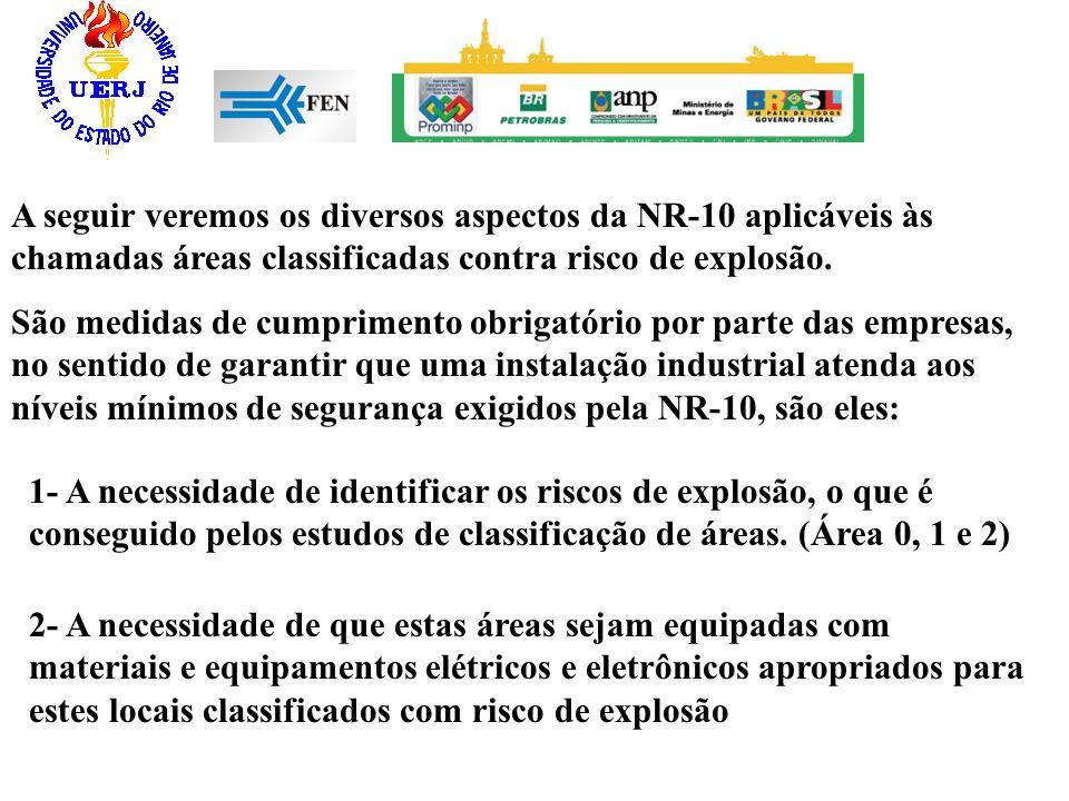 A seguir veremos os diversos aspectos da NR-10 aplicáveis às chamadas áreas classificadas contra risco de explosão.
