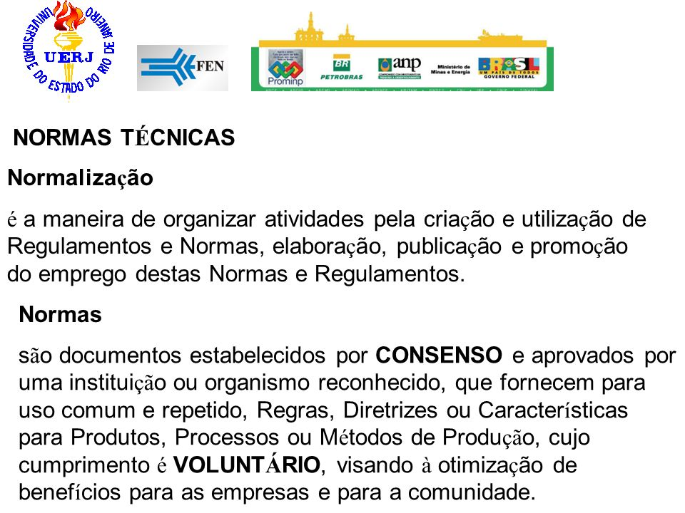 NORMAS TÉCNICAS Normalização.
