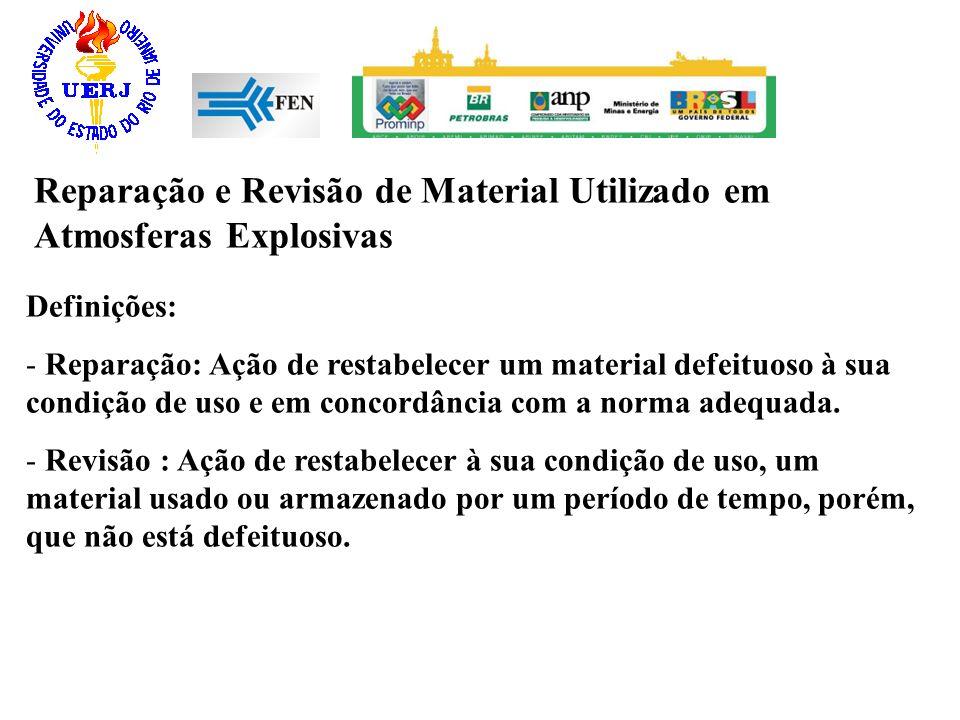 Reparação e Revisão de Material Utilizado em Atmosferas Explosivas