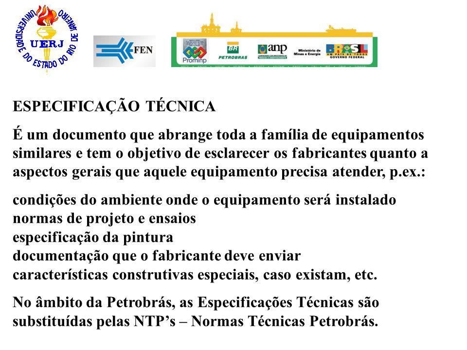 ESPECIFICAÇÃO TÉCNICA