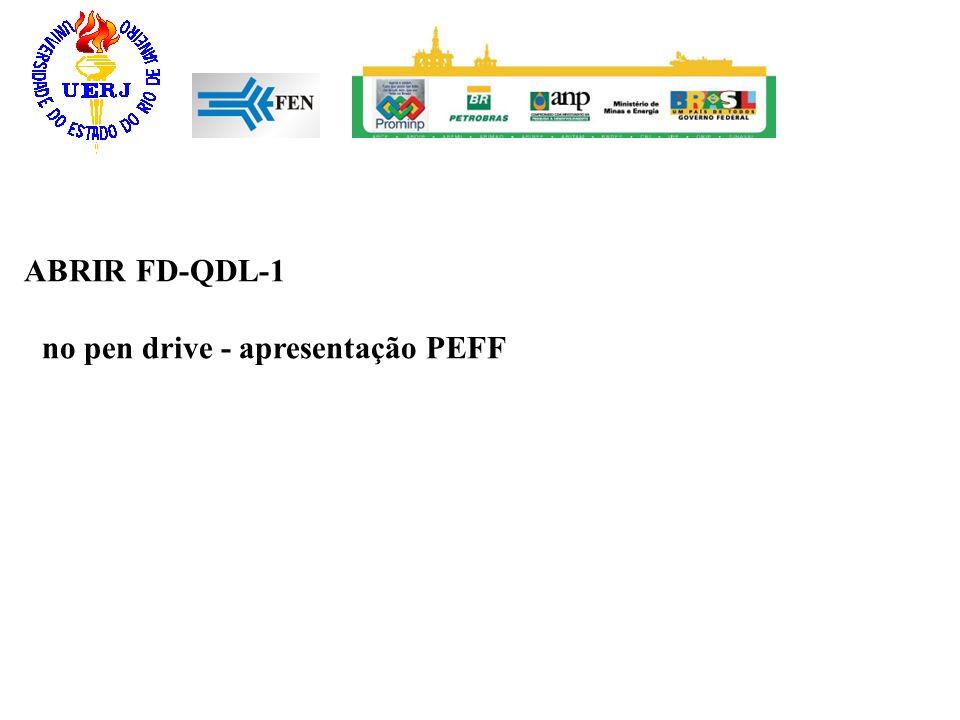 ABRIR FD-QDL-1 no pen drive - apresentação PEFF