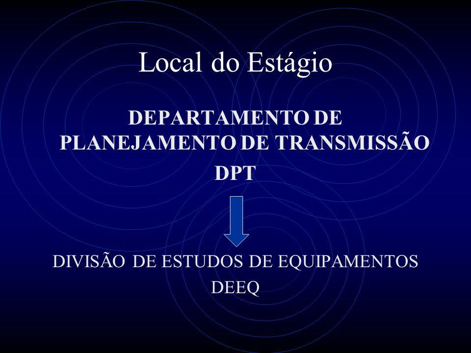 DEPARTAMENTO DE PLANEJAMENTO DE TRANSMISSÃO