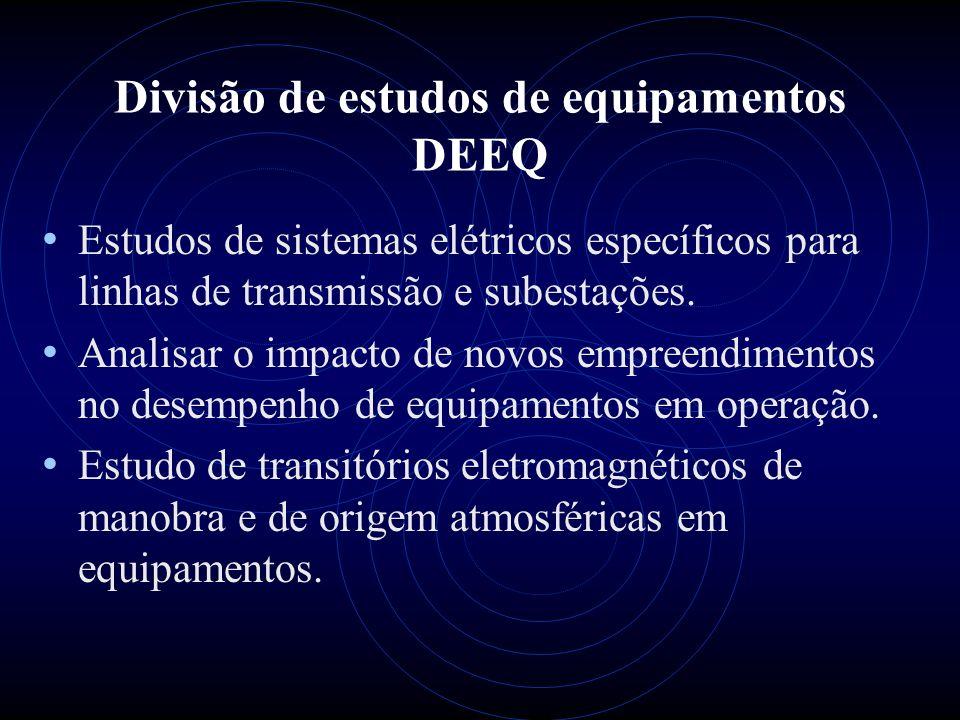 Divisão de estudos de equipamentos DEEQ
