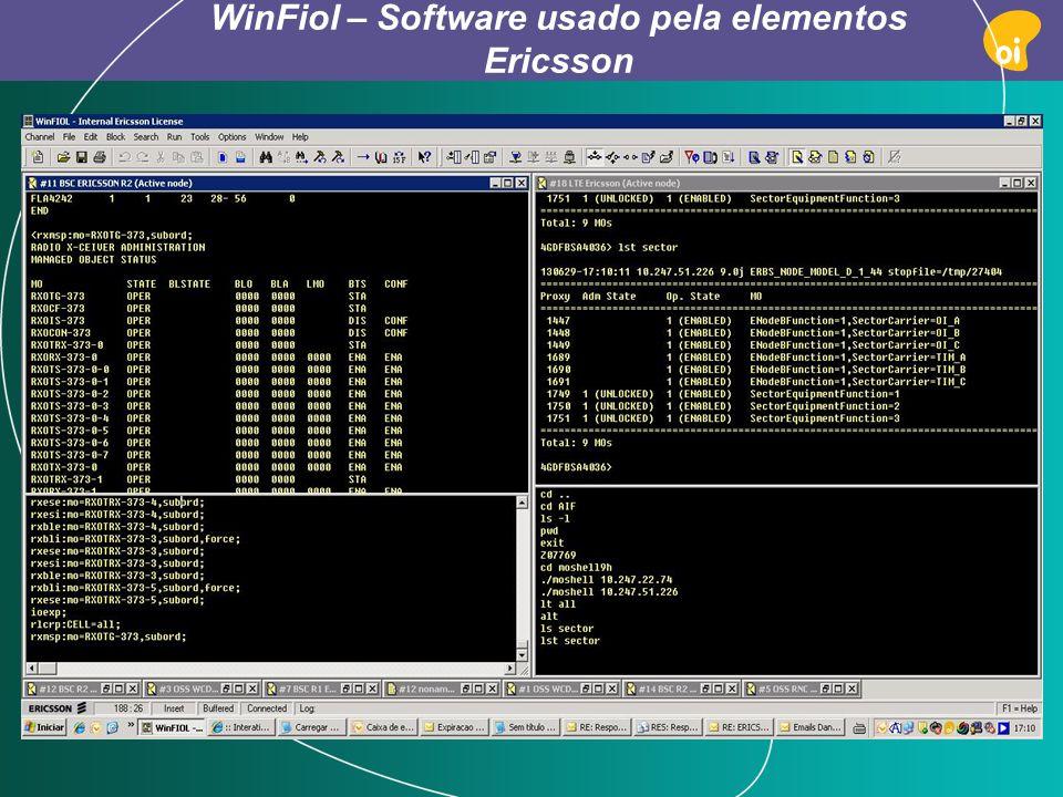 WinFiol – Software usado pela elementos Ericsson