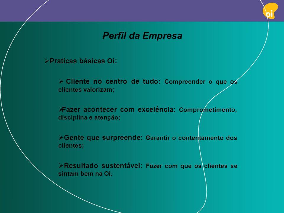 Perfil da Empresa Praticas básicas Oi: