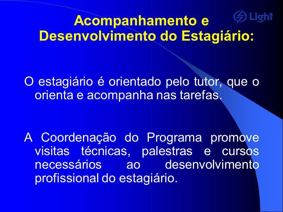 Acompanhamento e Desenvolvimento do Estagiário:
