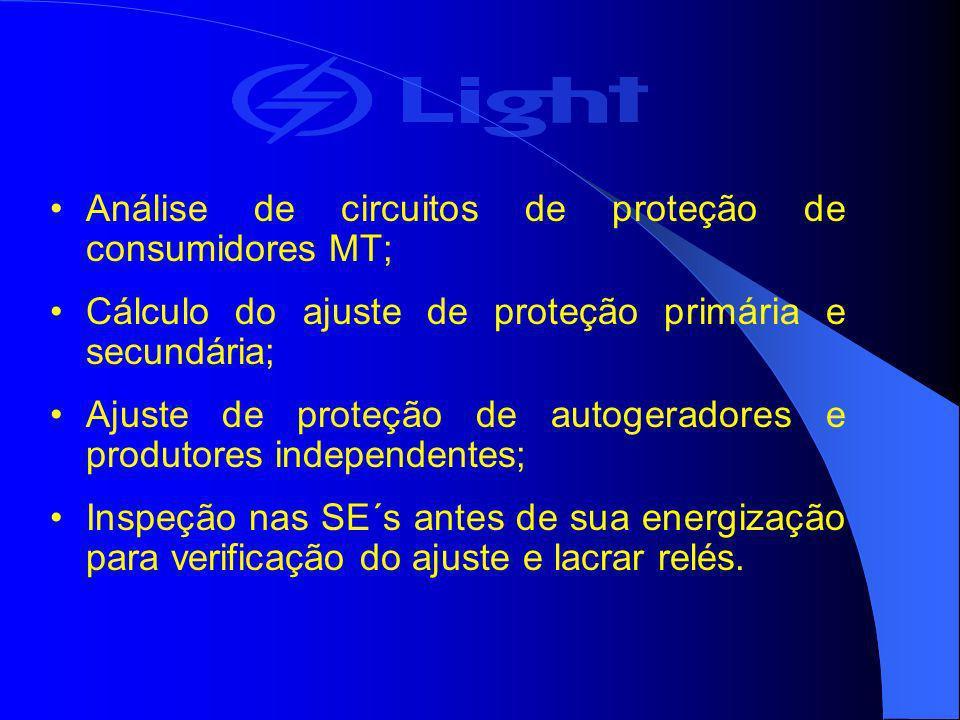 Análise de circuitos de proteção de consumidores MT;