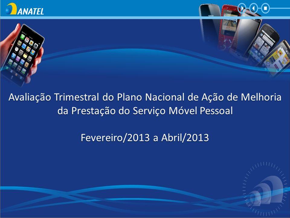 Avaliação Trimestral do Plano Nacional de Ação de Melhoria da Prestação do Serviço Móvel Pessoal