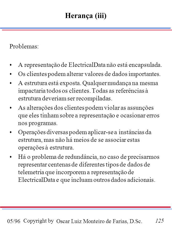 Herança (iii) Problemas: