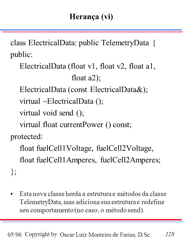 class ElectricalData: public TelemetryData { public: