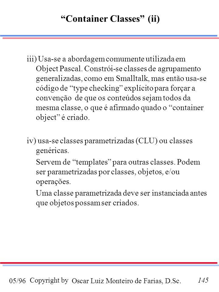 Container Classes (ii)