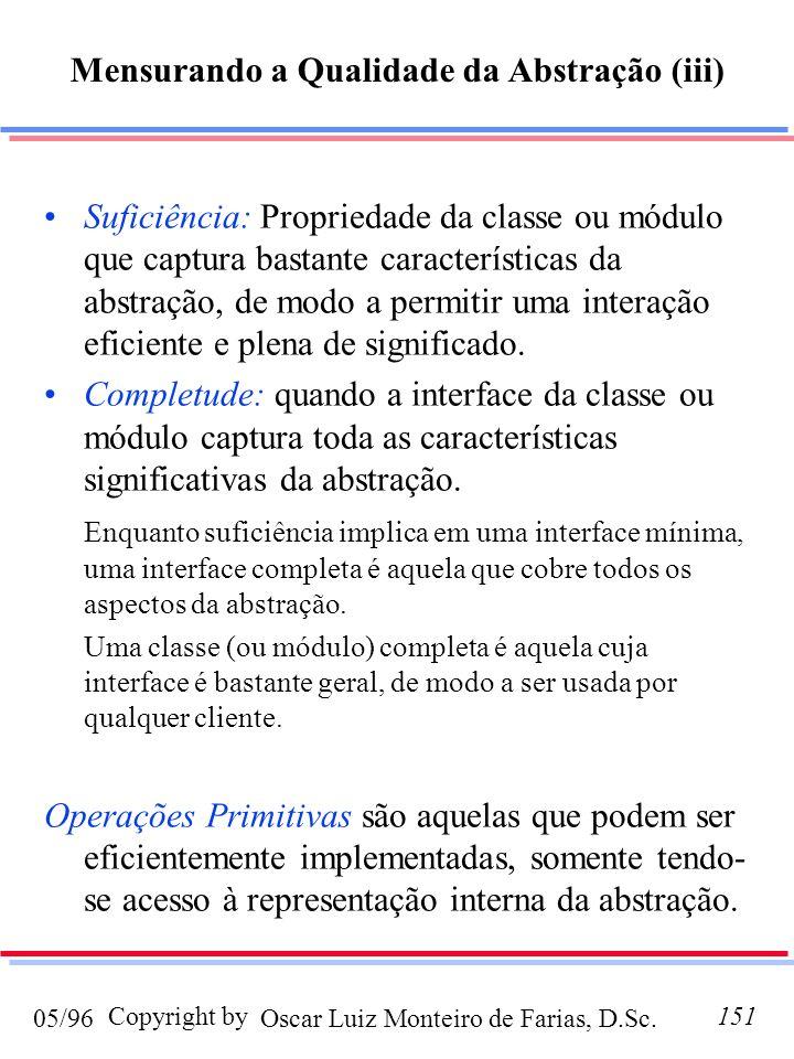Mensurando a Qualidade da Abstração (iii)