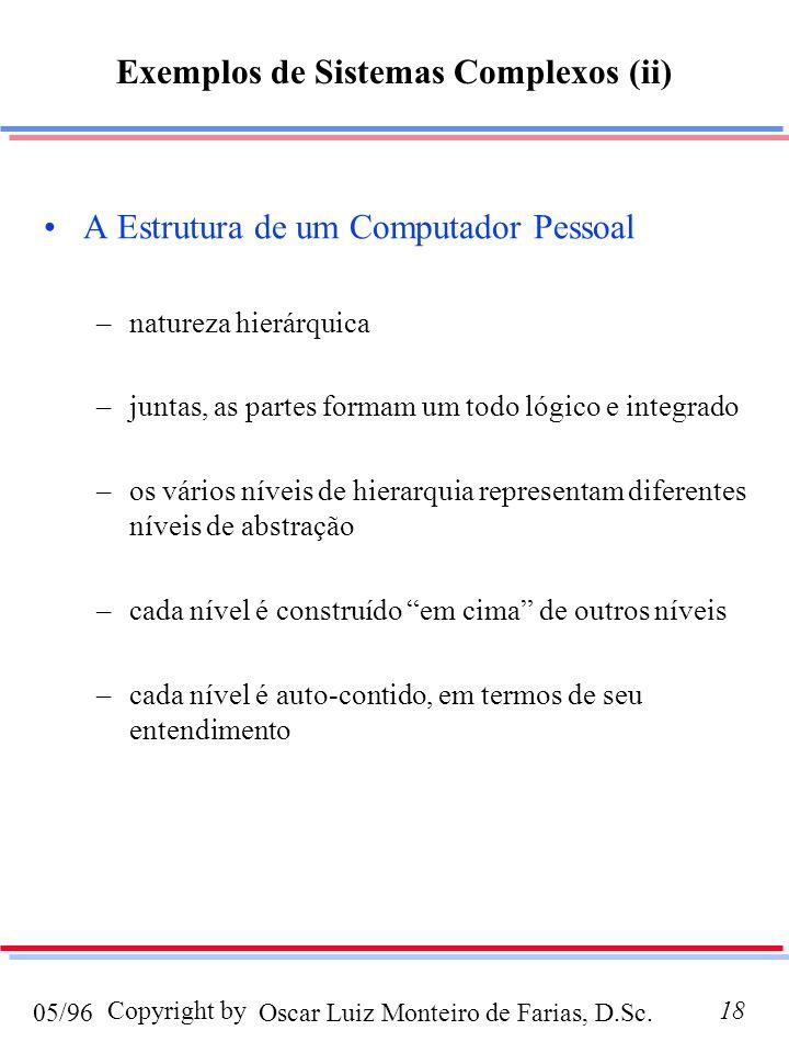 Exemplos de Sistemas Complexos (ii)