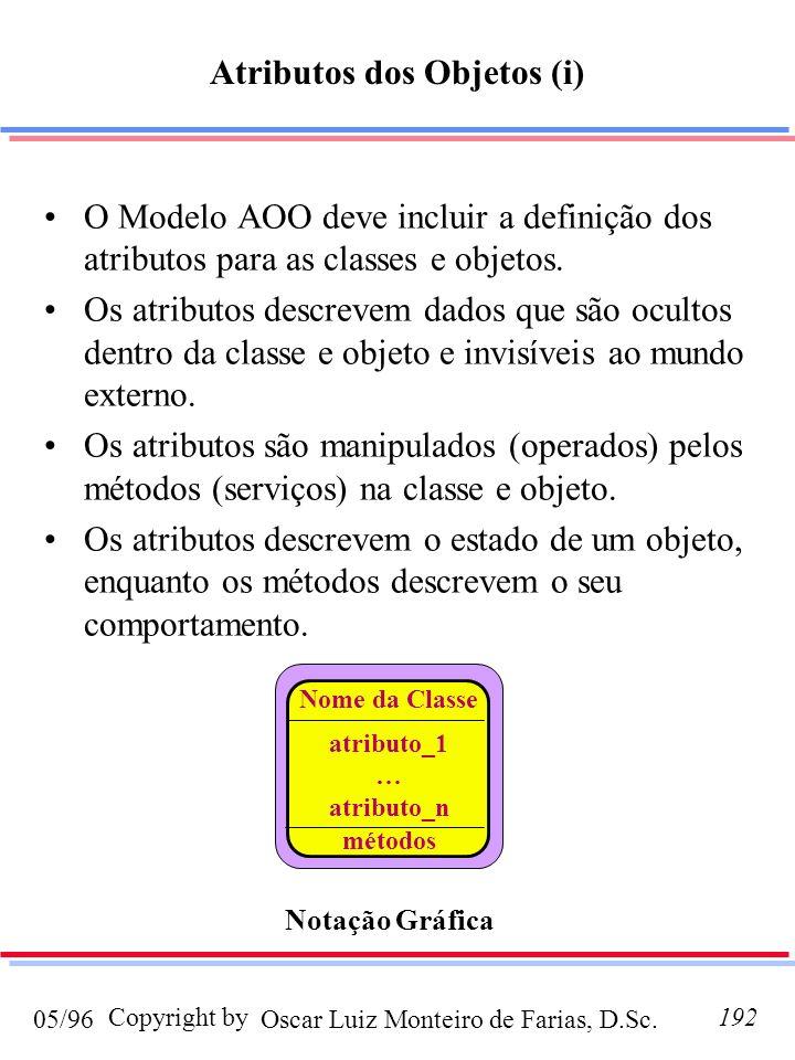 Atributos dos Objetos (i)