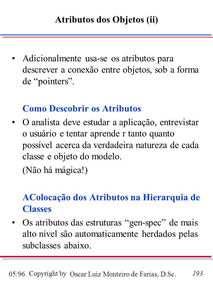 Atributos dos Objetos (ii)
