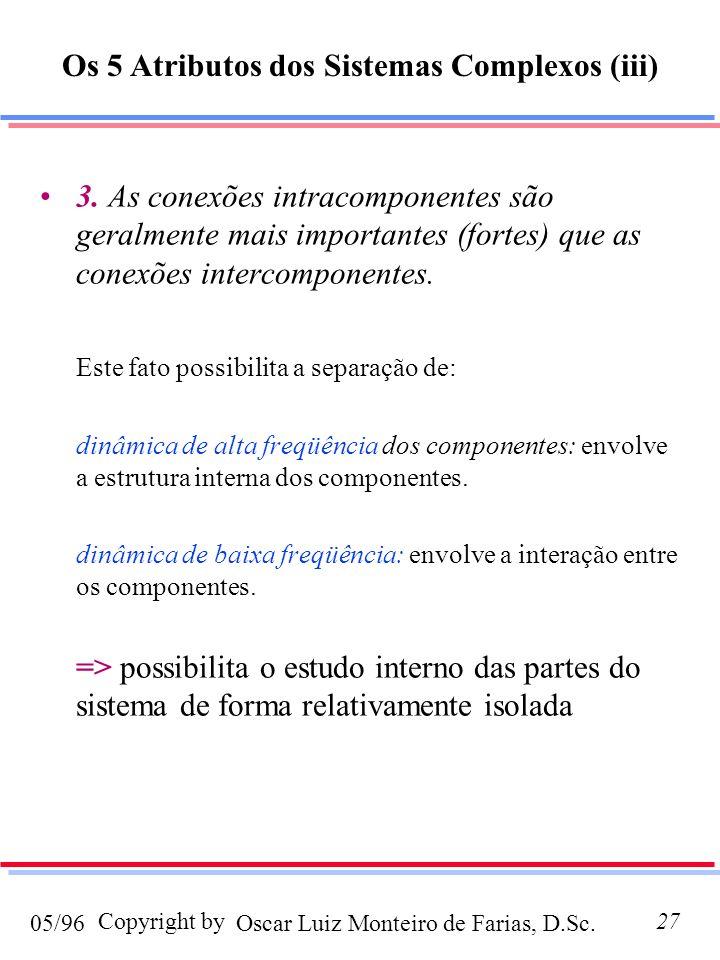 Os 5 Atributos dos Sistemas Complexos (iii)