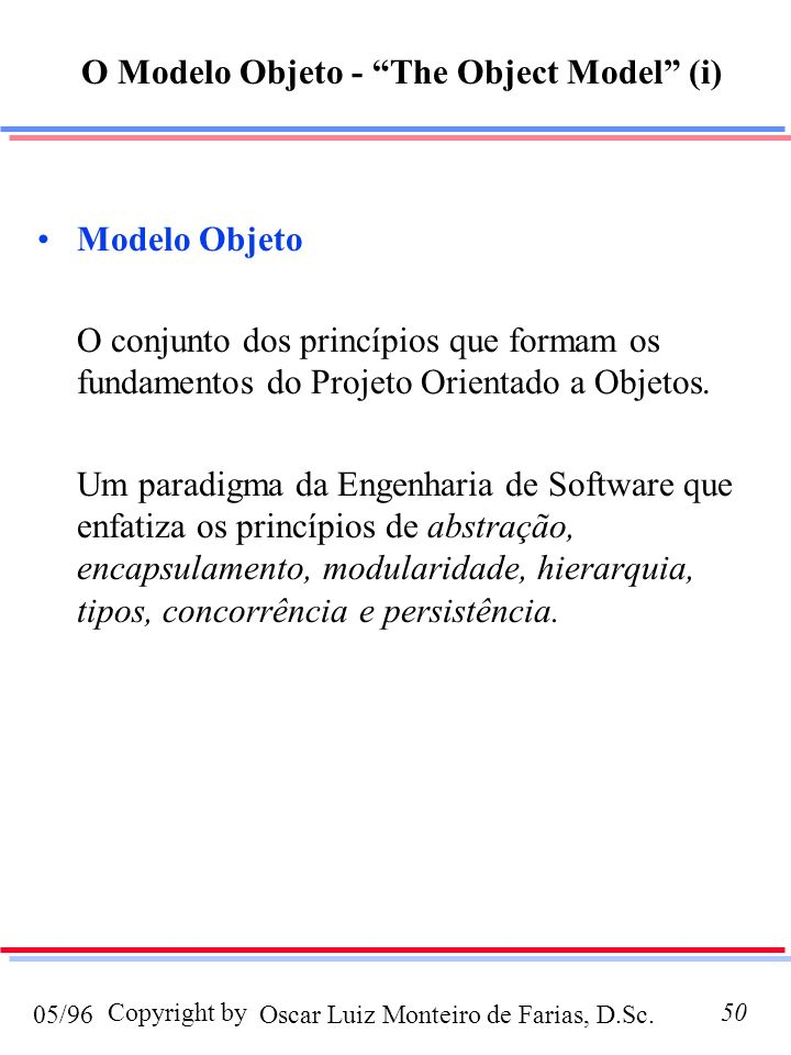 O Modelo Objeto - The Object Model (i)