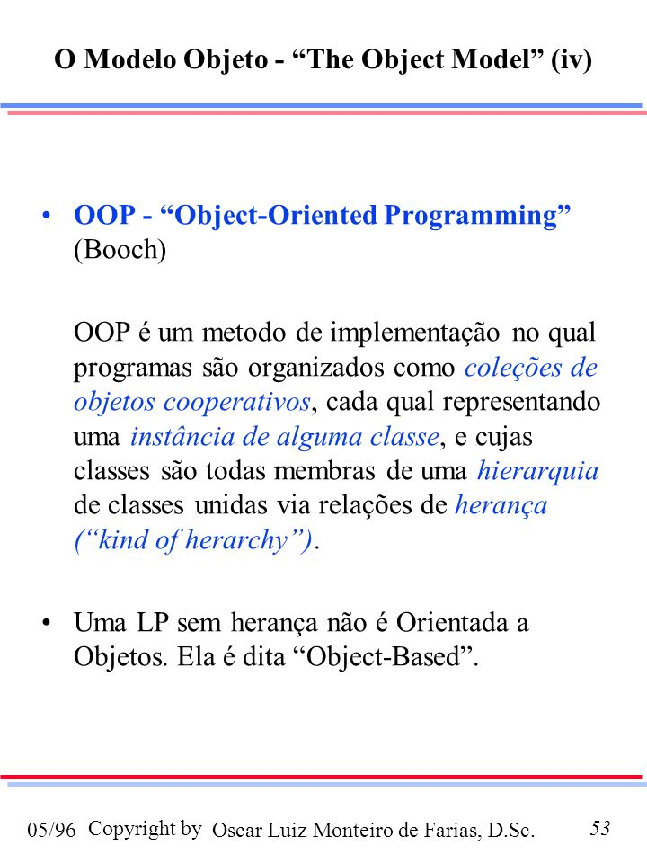 O Modelo Objeto - The Object Model (iv)