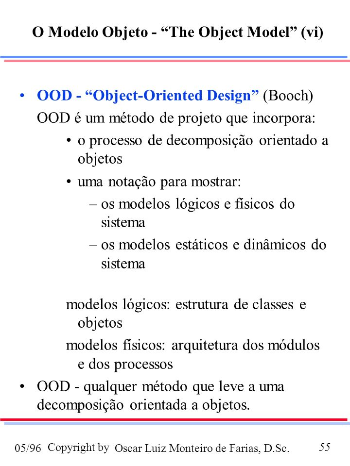 O Modelo Objeto - The Object Model (vi)
