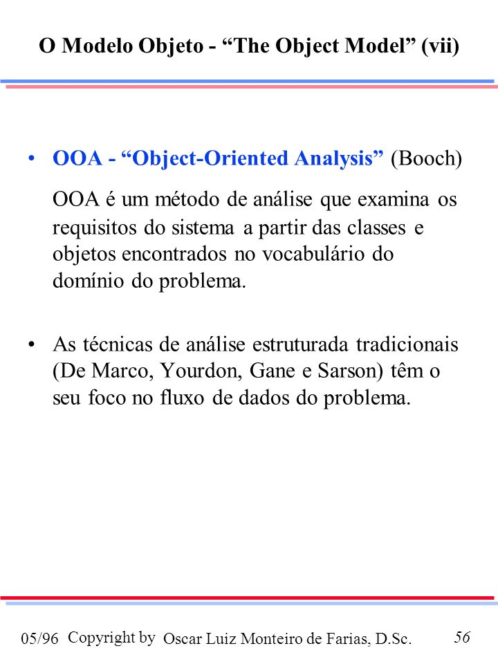 O Modelo Objeto - The Object Model (vii)