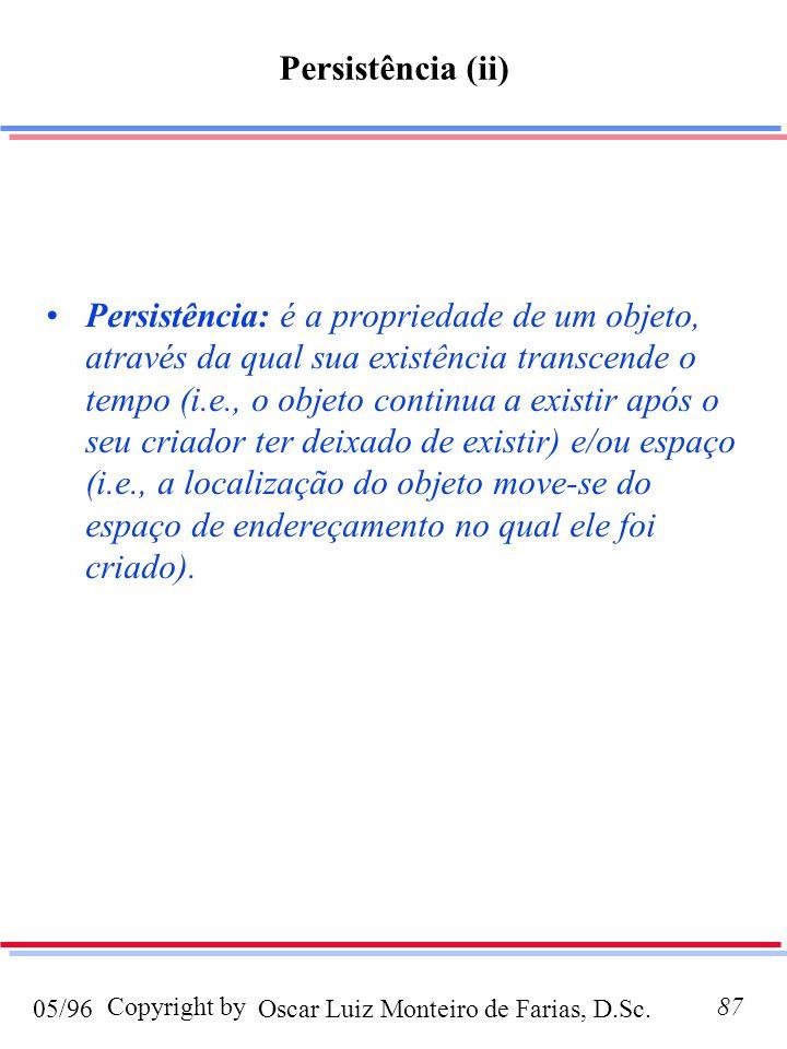 Persistência (ii)