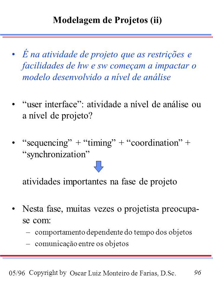 Modelagem de Projetos (ii)