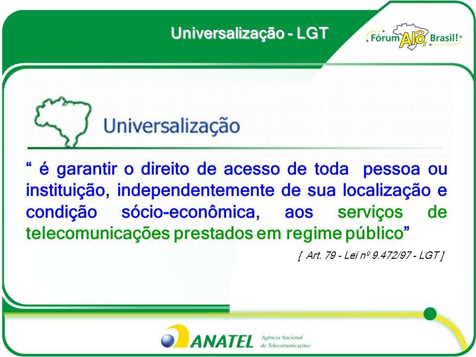 Universalização - LGT