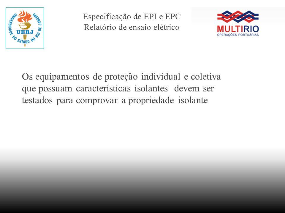 Especificação de EPI e EPC