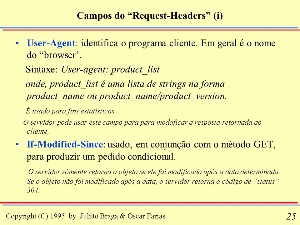 Campos do Request-Headers (i)