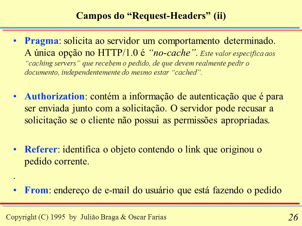 Campos do Request-Headers (ii)