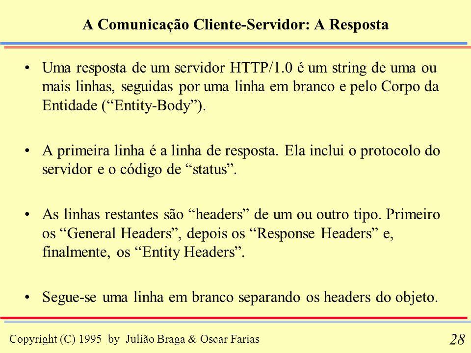 A Comunicação Cliente-Servidor: A Resposta