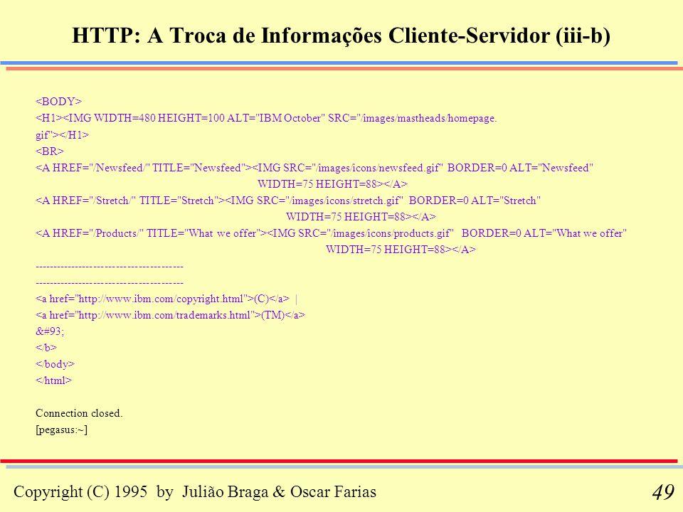 HTTP: A Troca de Informações Cliente-Servidor (iii-b)