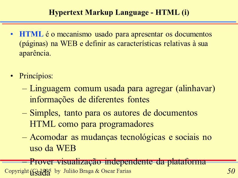 Hypertext Markup Language - HTML (i)