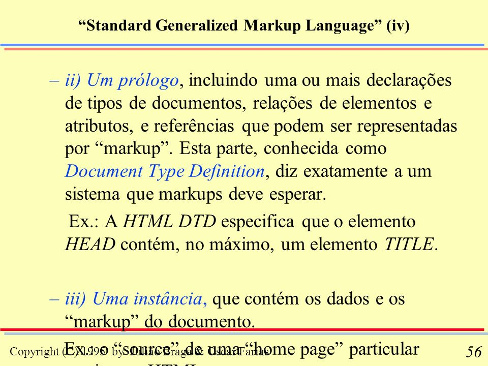 Standard Generalized Markup Language (iv)