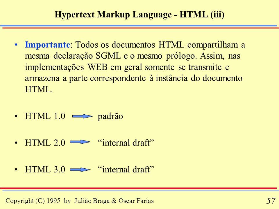 Hypertext Markup Language - HTML (iii)
