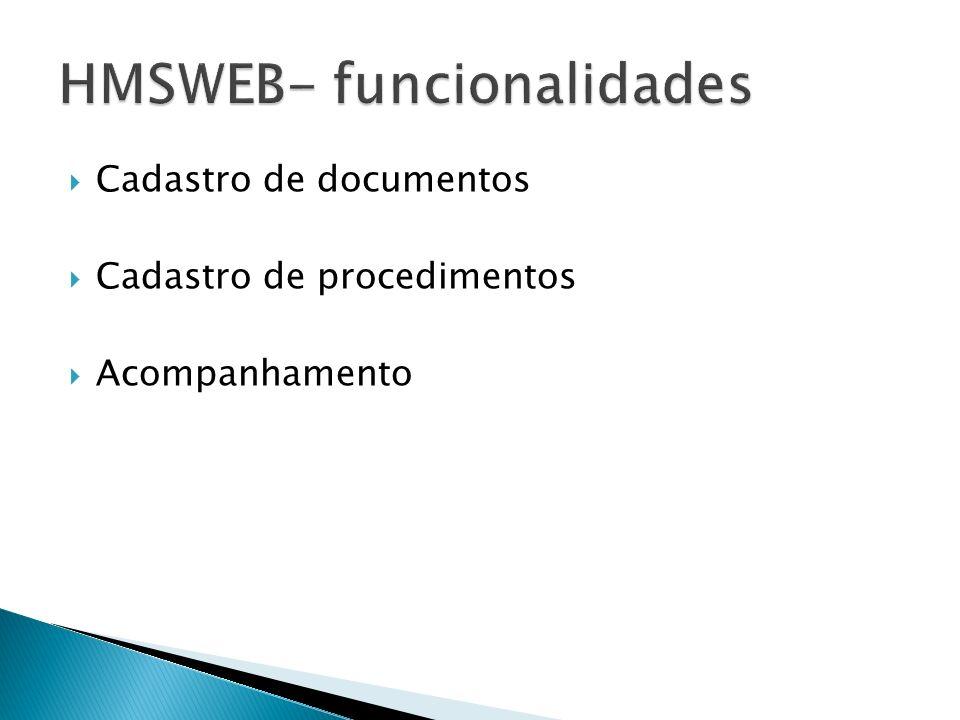 HMSWEB- funcionalidades